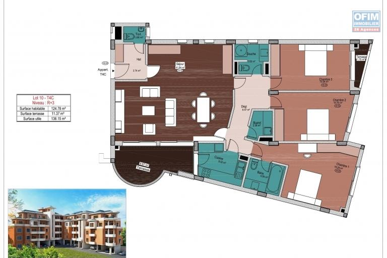 A vendre bel appartement T4 neuf avec une très belle vue à Tsiadana proche du centre ville .